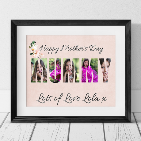 Mummy photo collage - Mother's Day gift
