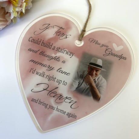 Personalised Acrylic Heart -If tears