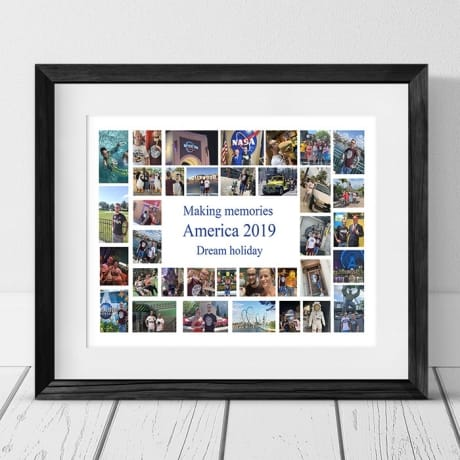 35 Photo Collage - Making memories Framed Print