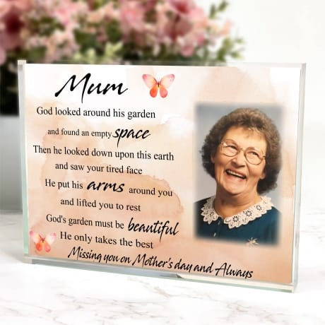 Missing you on Mother's Day - God's Garden Photo Block