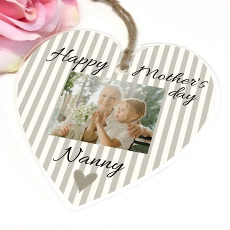Personalised Mother's Day Hanging Heart - Nanny