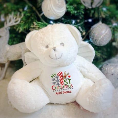 My 1st Christmas Personalised Angel Teddy
