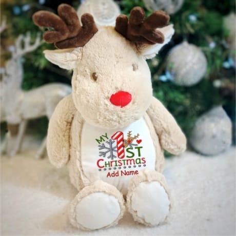 My 1st Christmas Personalised reindeer