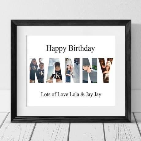 Nanny Photo letters Birthday