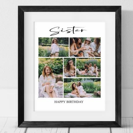 6 photo Birthday Collage - Sister