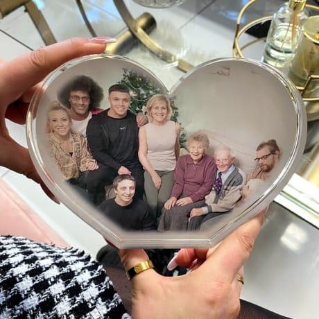 Personalised Acrylic Heart Photo Block - One photo