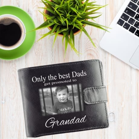 Personalised Black Wallet- promoted