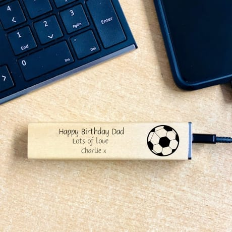 Personalised Wooden Power Bank Design 4