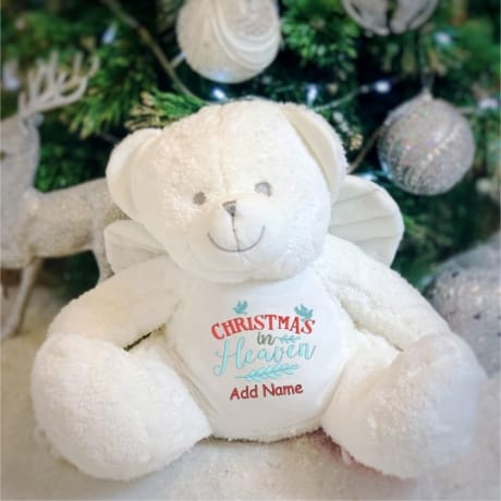 Personalised Christmas In Heaven Angel Teddy Bear