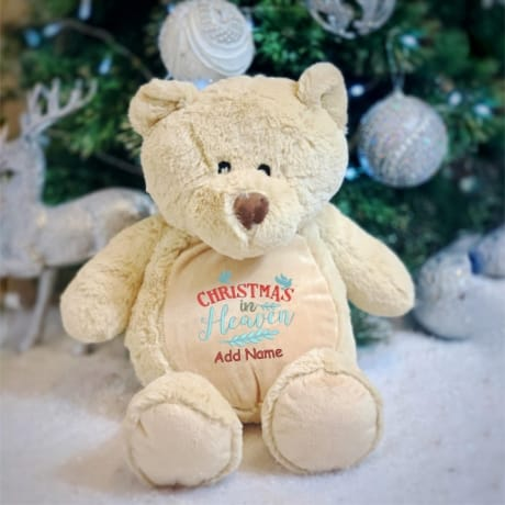 Personalised Christmas In Heaven Bear