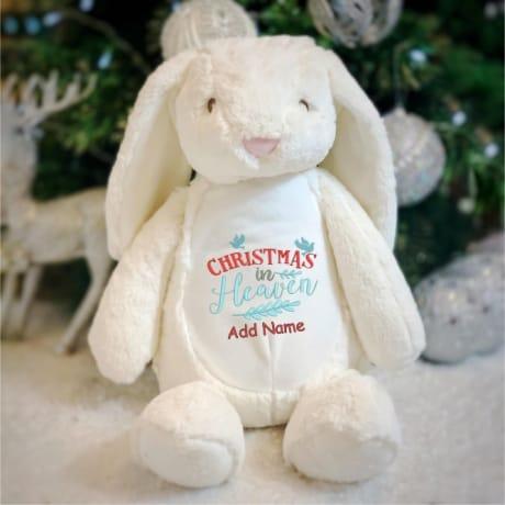 Personalised Christmas In Heaven Rabbit