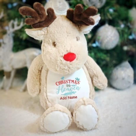 Personalised Christmas In Heaven Reindeer