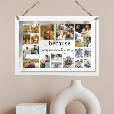Personalised Deluxe Wall Sign Collage Keepsake