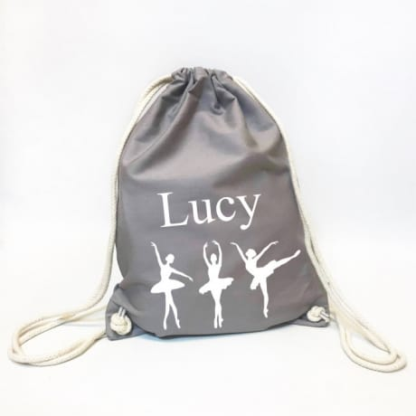 Personalised Organic Gym Bag - Ballerina