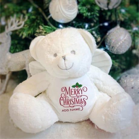 Personalised Christmas Angel Bear