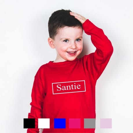 Personalised name long sleeved T-shirt