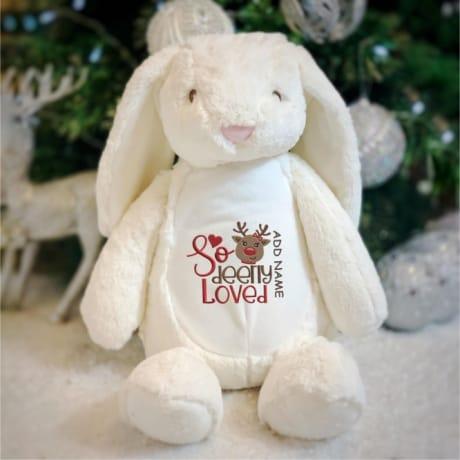 So Deerly Loved Personalised Rabbit
