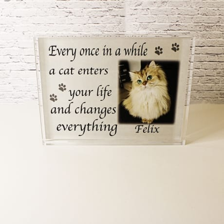 Personalised cat photo block