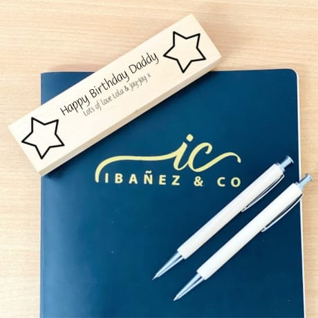 Personalised Wooden Stationary Set