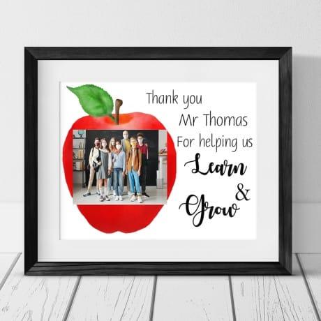 Personalised Learn & Grow Teacher Gift