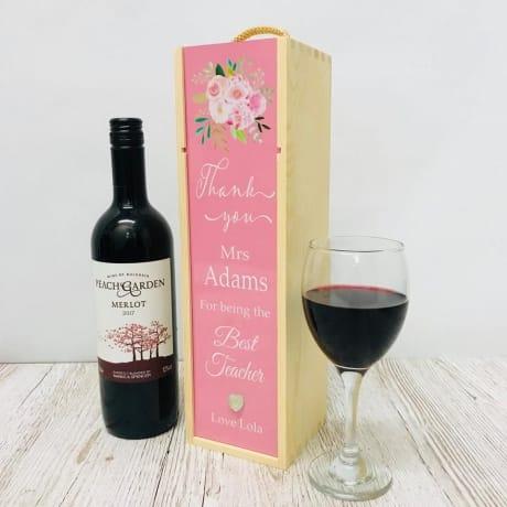 Teacher gift / Floral bottle box