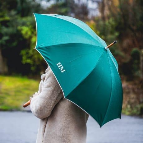 Personalised Luxury Green Umbrella
