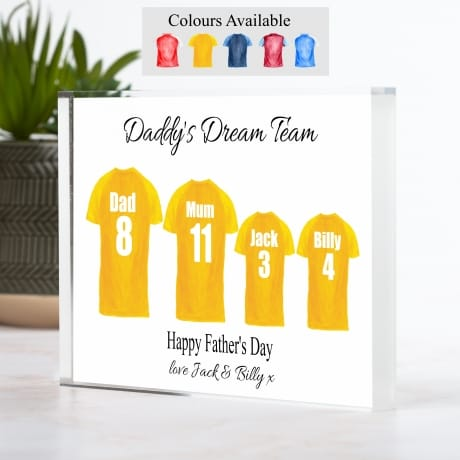 Father's Day Family of 4 Football Team