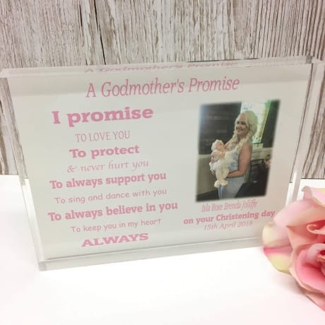 A Godparent's promise : Frame, Block or Plaque