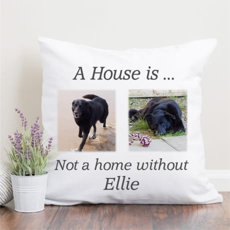 Personalised pet 2 photo cushion