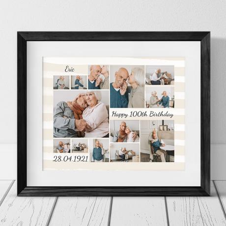 Age 100 Birthday photo collage