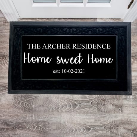 Personalised Doormat Home Sweet Home