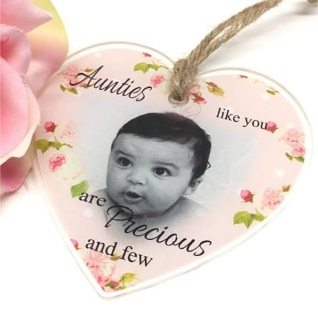 Personalised Acrylic Hanging heart -Precious and few