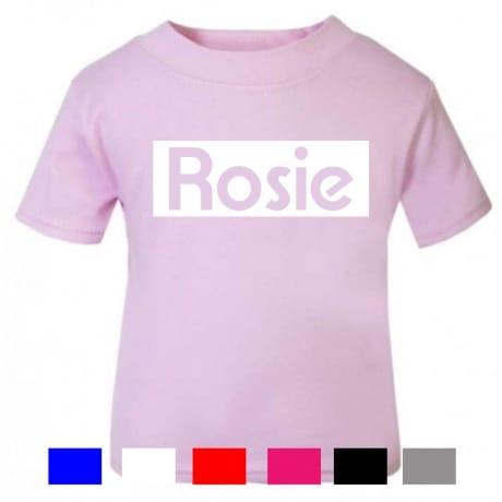 Personalised kid's name T-shirt