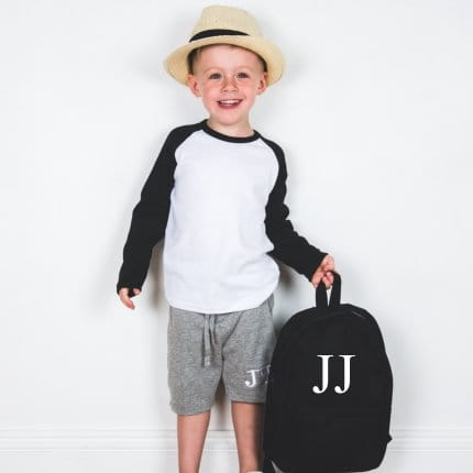 Personalised Embroidered Backpack - Black