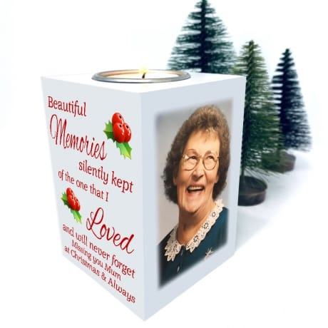Christmas Tea Light Holder- Beautiful Memories