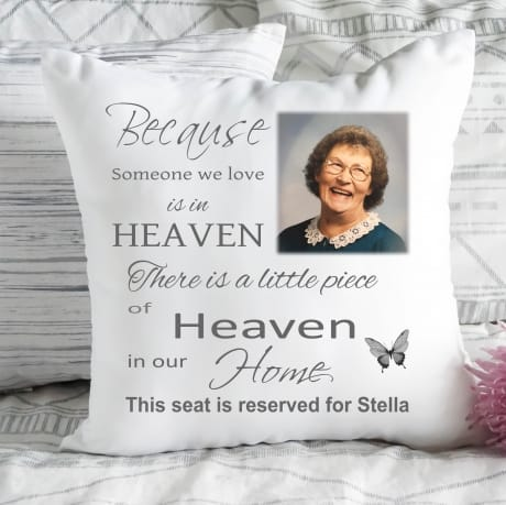 Personalised cushion - Heaven in our home
