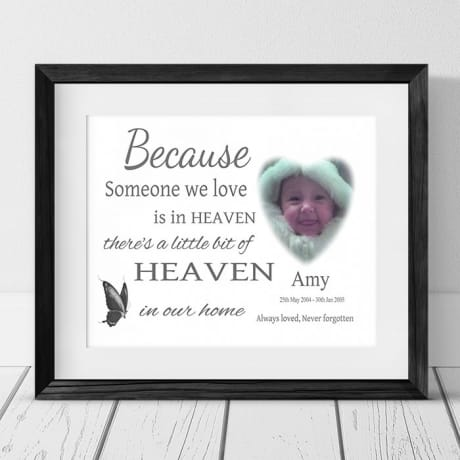 Personalised photo Remembrance Gift - Because someone we love