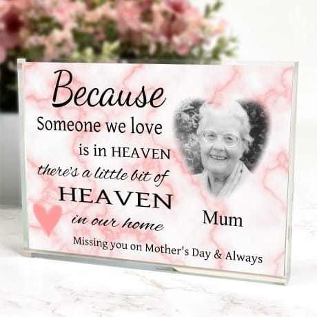 Personalised photo block Remembrance Gift - Mother's day