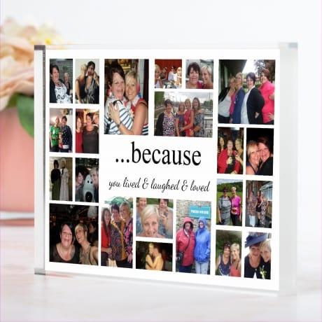 22 Photo Collage block Because you lived.