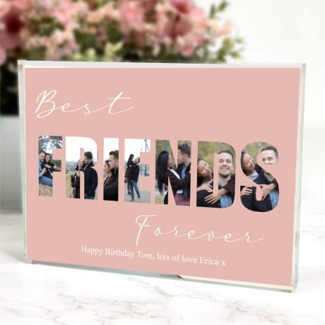 Best Friends Birthday Photo Block Collage