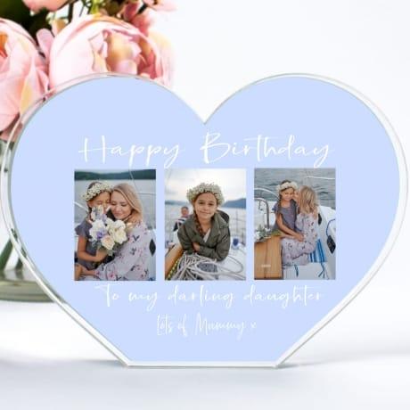 Birthday Photo Collage Heart Block