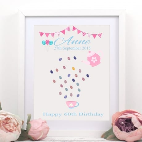 Birthday fingerprint guest book