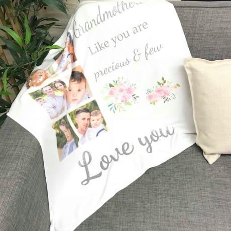 Personalised Photo blanket with additional Glitter text