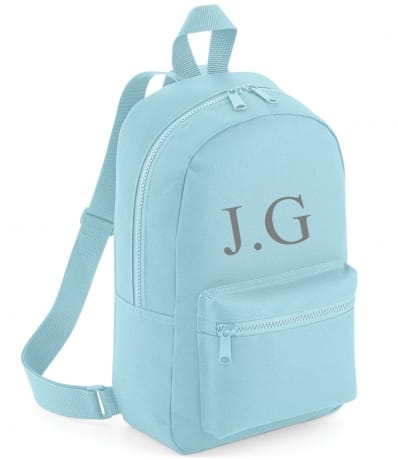 Personalised Embroidered Backpack - Blue
