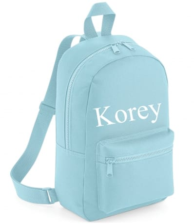 Personalised Embroidered Name Backpack - Blue