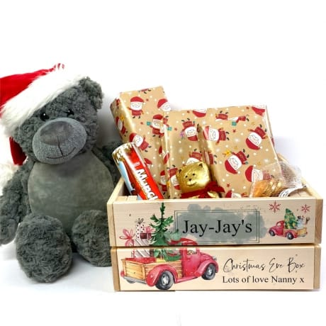 Personalised Lorry Christmas Eve Crate
