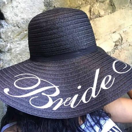 Personalised Bride hat