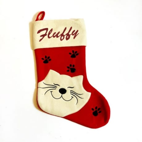 Glitter Name Cat Stocking