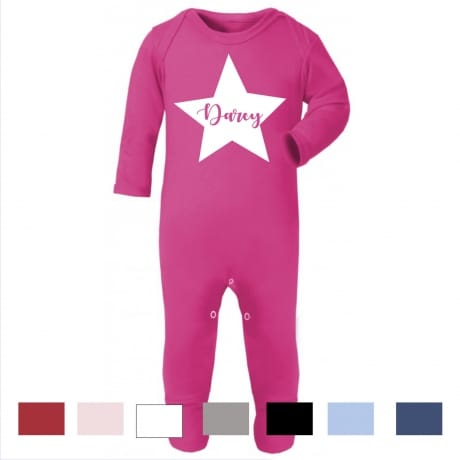 Personalised star name rompersuit