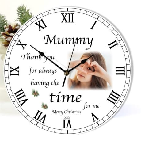 Christmas clock -  Mum Thank you for